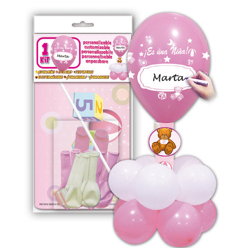 Globos Decor Kit Niña - Rosa