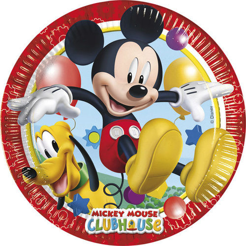 Mickey platos Club House - Pte. 8 unid.