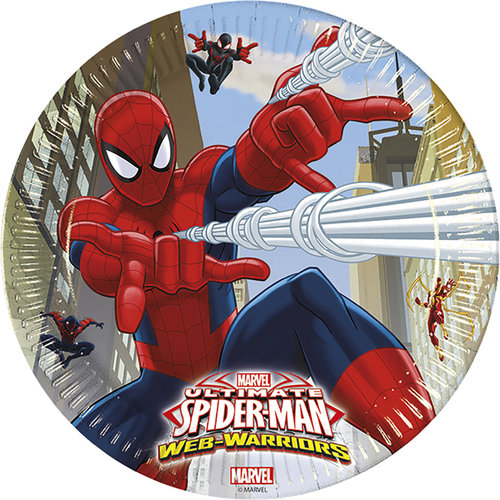Spiderman platos 23 cm - Pack 8 unid.