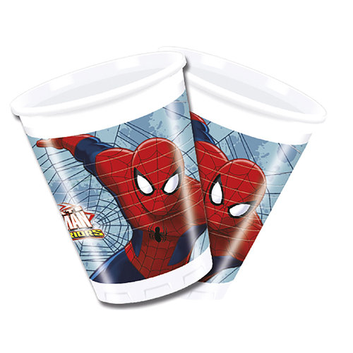 Spiderman vasos - Pack 8 unid.