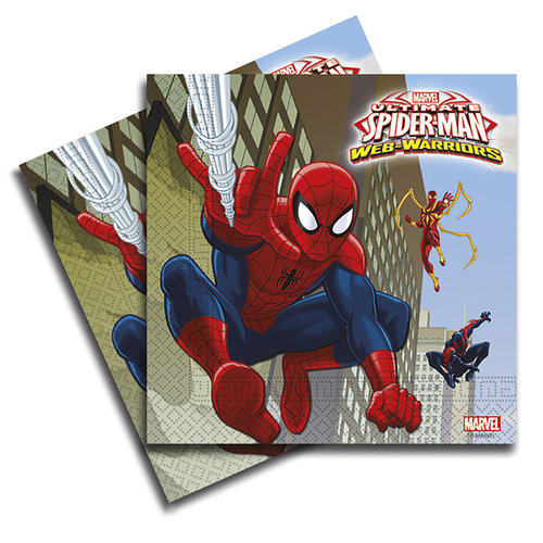 Spiderman servilletas - Pack 20 unid.