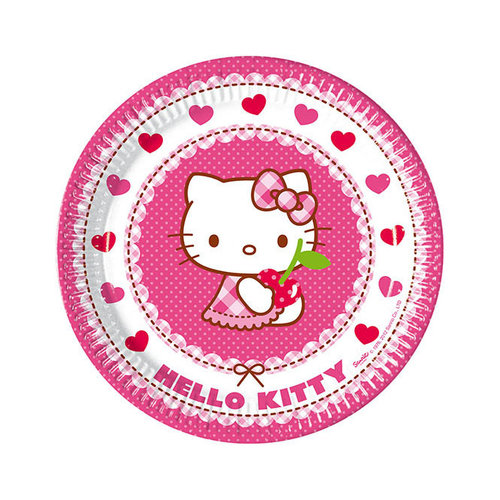 Hello Kitty platos 23 cm - Pack 8 unid.