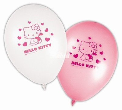 Hello Kitty globos - Pack 8 unid.